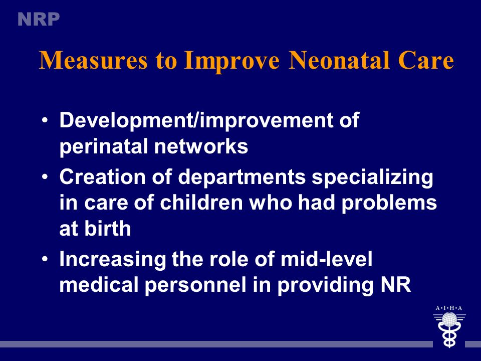 Measures to Improve Neonatal Care