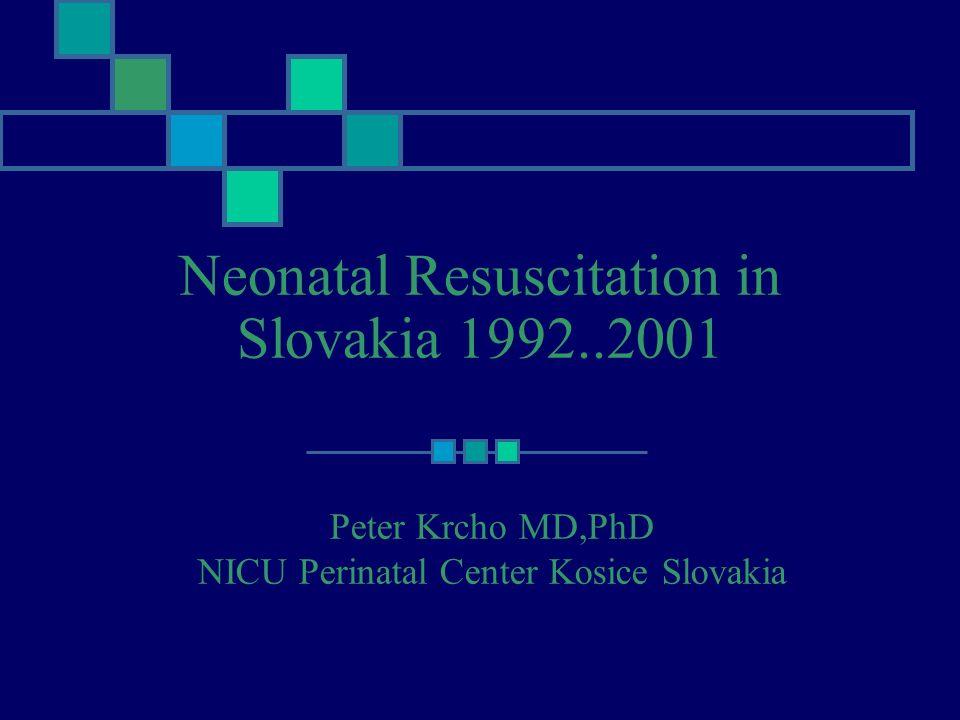 Neonatal Resuscitation in Slovakia 1992..2001
