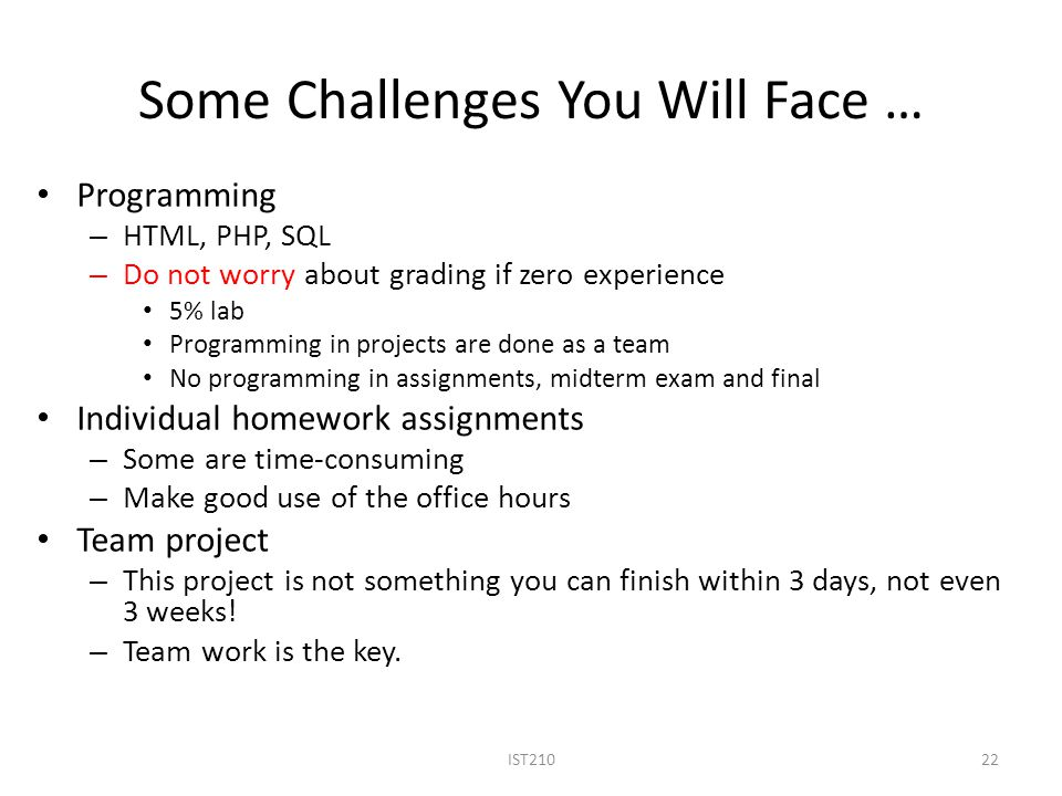Some Challenges You Will Face …