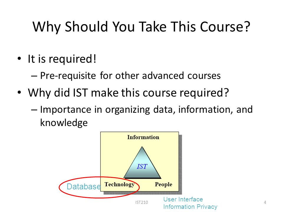 Why Should You Take This Course