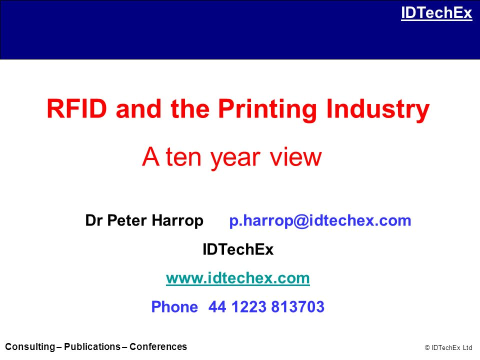 RFID and the Printing Industry