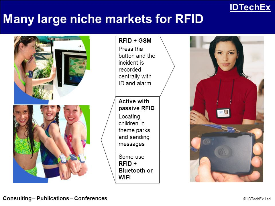 Many large niche markets for RFID