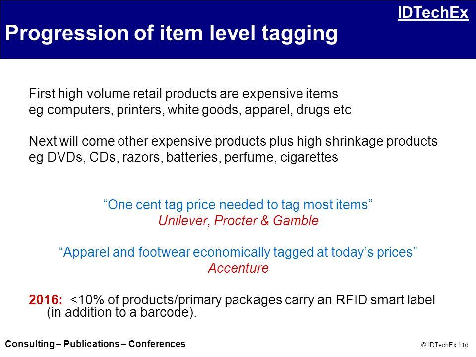 Progression of item level tagging