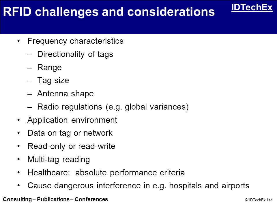 RFID challenges and considerations