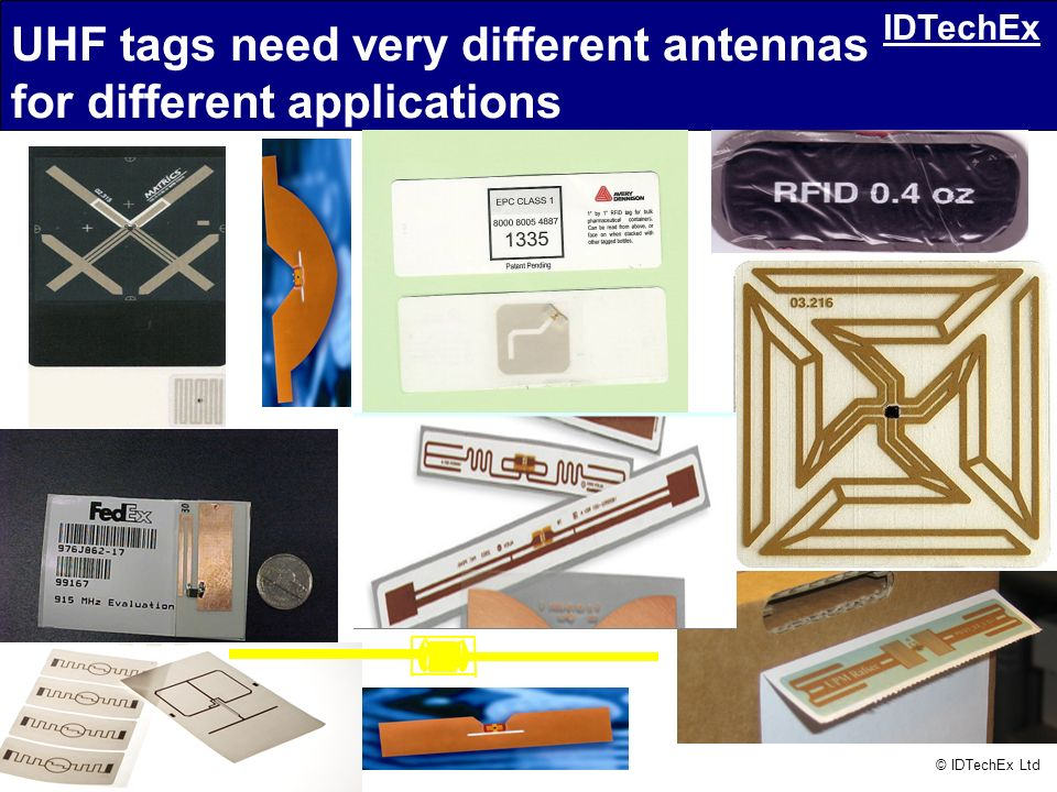 UHF tags need very different antennas for different applications