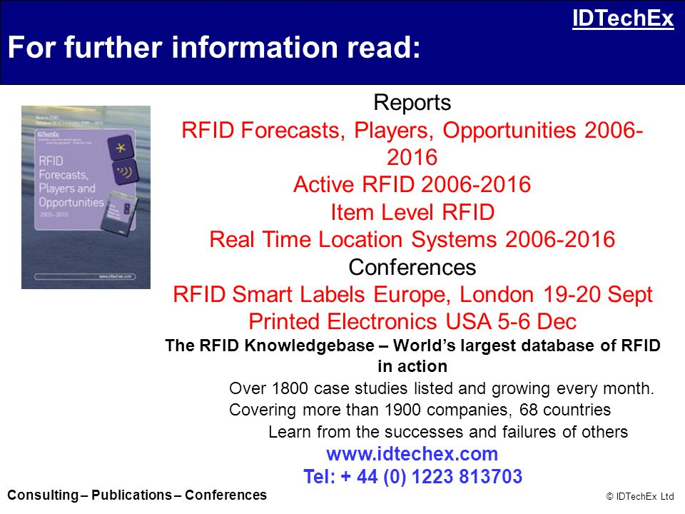 The RFID Knowledgebase – World's largest database of RFID in action