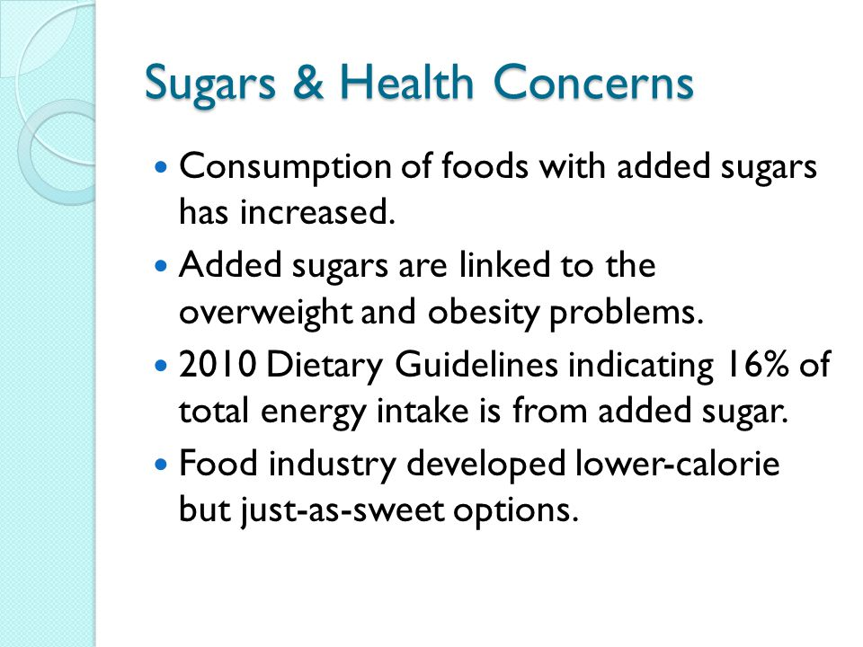 Sugars & Health Concerns