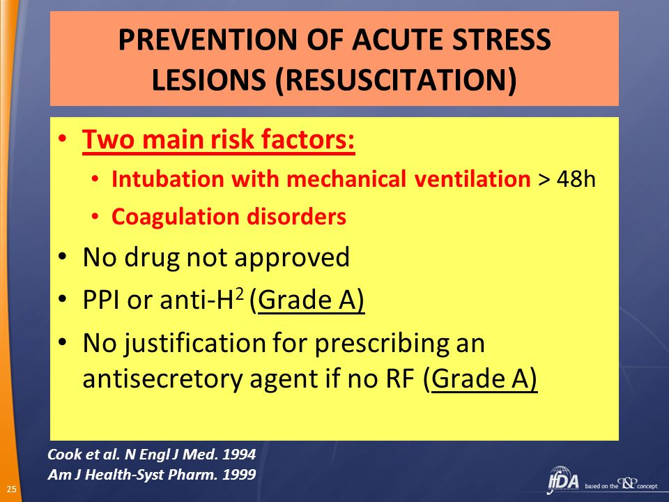 PREVENTION OF ACUTE STRESS LESIONS (RESUSCITATION)