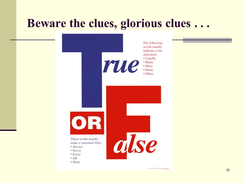 Beware the clues, glorious clues . . .