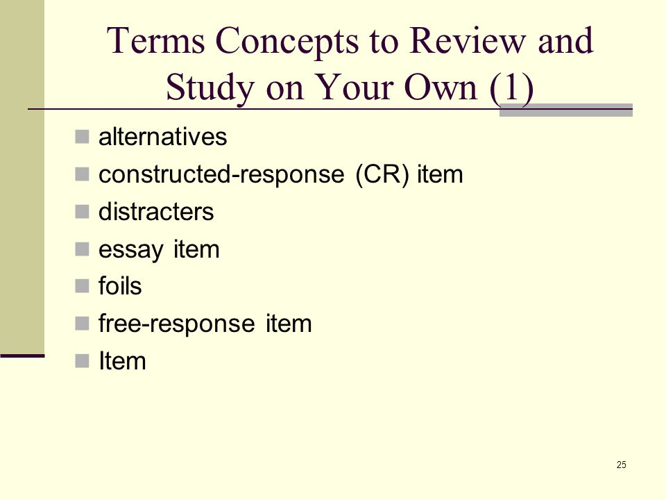 Terms Concepts to Review and Study on Your Own (1)