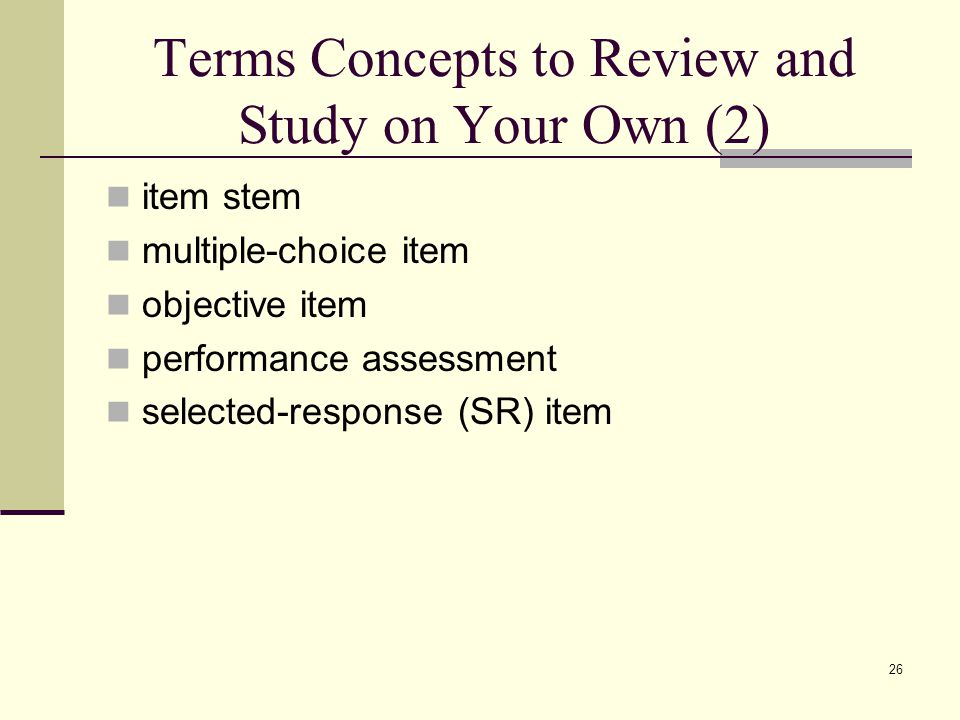 Terms Concepts to Review and Study on Your Own (2)