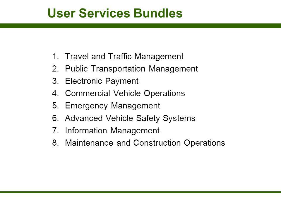 User Services Bundles Travel and Traffic Management