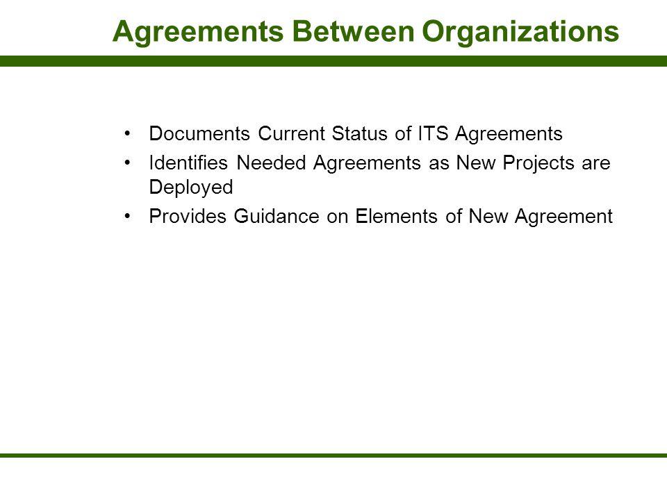Agreements Between Organizations