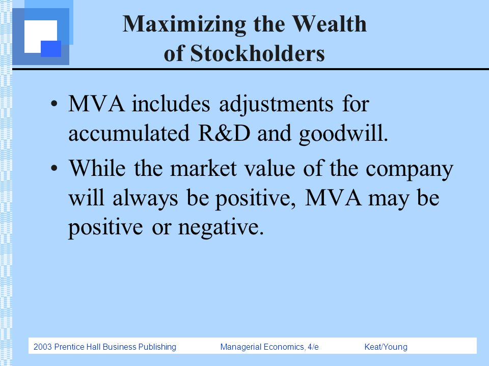an introduction to increase shareholder wealth in corporations 1 the duty to act in the interests of the company: simply a duty to increase shareholder wealth introduction since the company has been given the status of a.