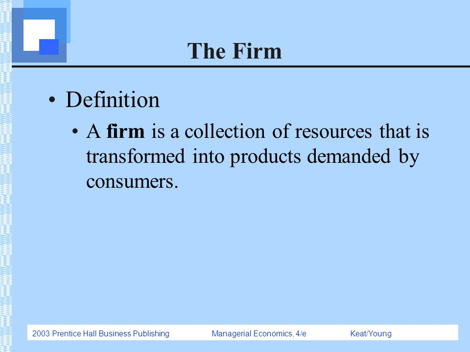 The Firm Definition.