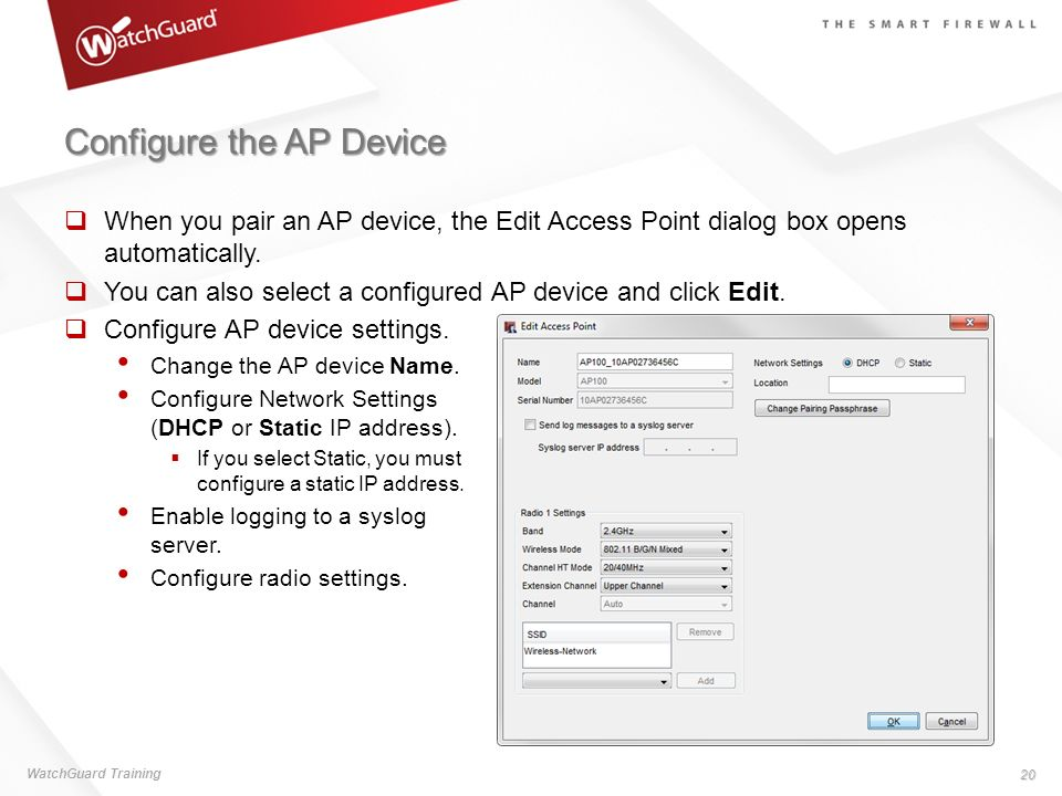 Configure the AP Device