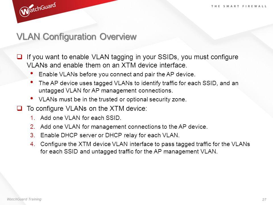 VLAN Configuration Overview