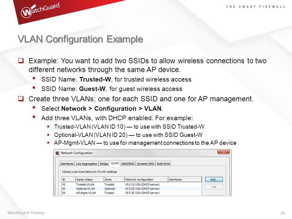 VLAN Configuration Example
