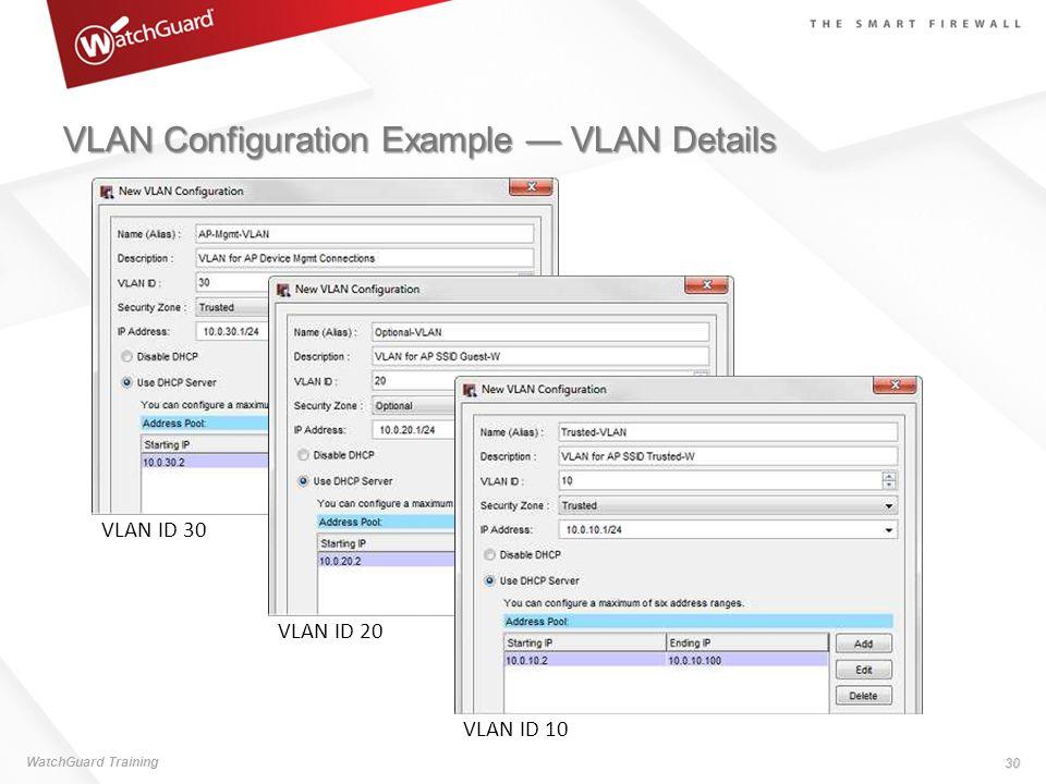 VLAN Configuration Example — VLAN Details
