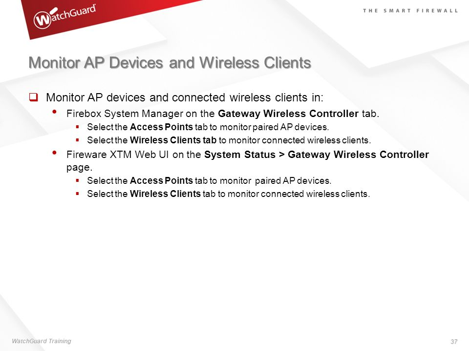 Monitor AP Devices and Wireless Clients