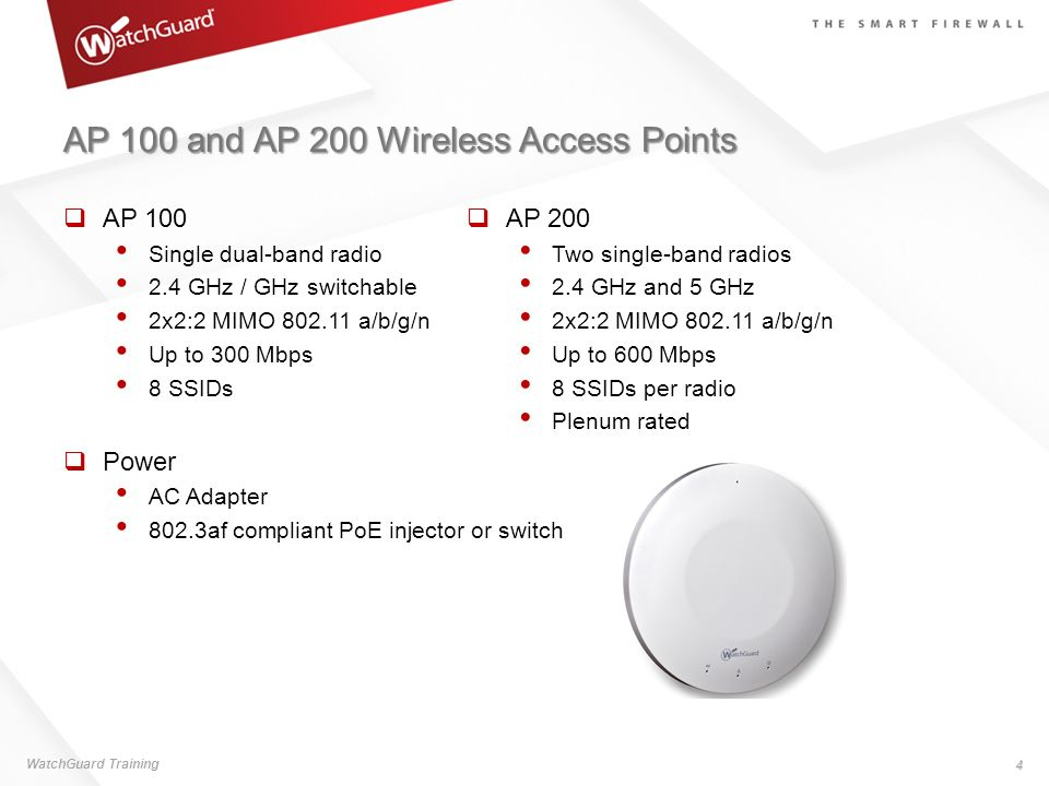 AP 100 and AP 200 Wireless Access Points