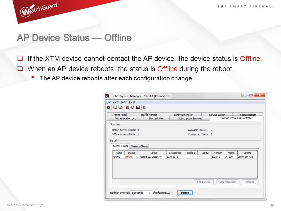 AP Device Status — Offline