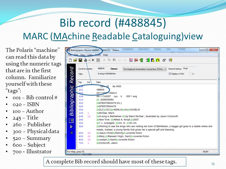 Bib record (#488845) MARC (MAchine Readable Cataloguing)view