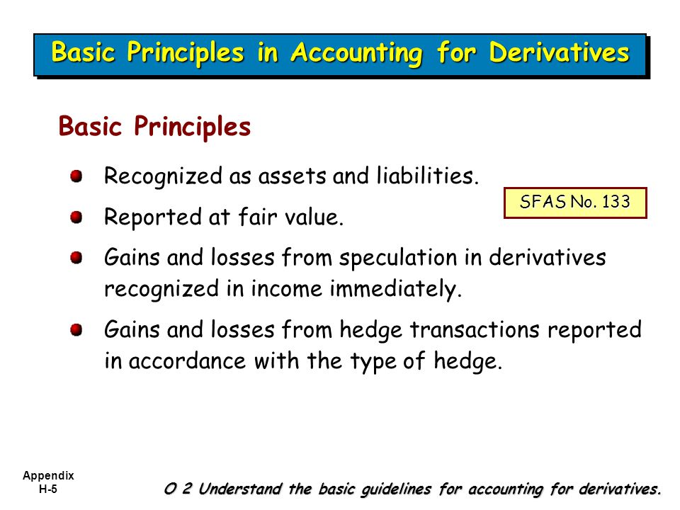accounting for derivatives fas 133 International accounting standards for derivatives  under fas 133 all derivatives instruments appear on the balance sheet at what is termed 'fair value'.