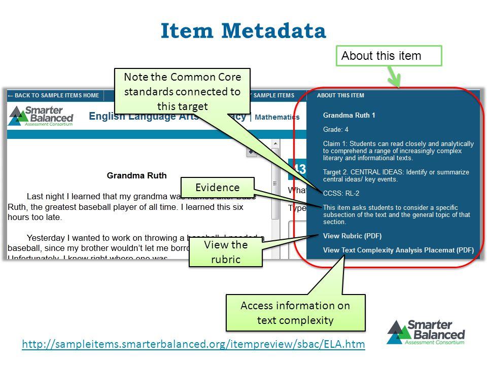 Item Metadata About this item