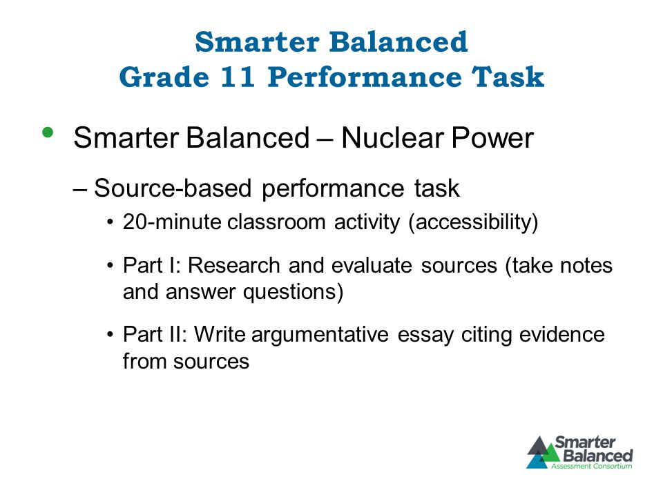 Smarter Balanced Grade 11 Performance Task