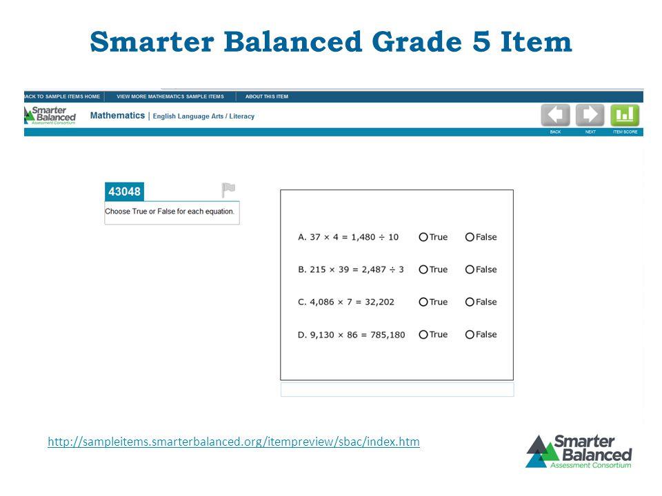 Smarter Balanced Grade 5 Item