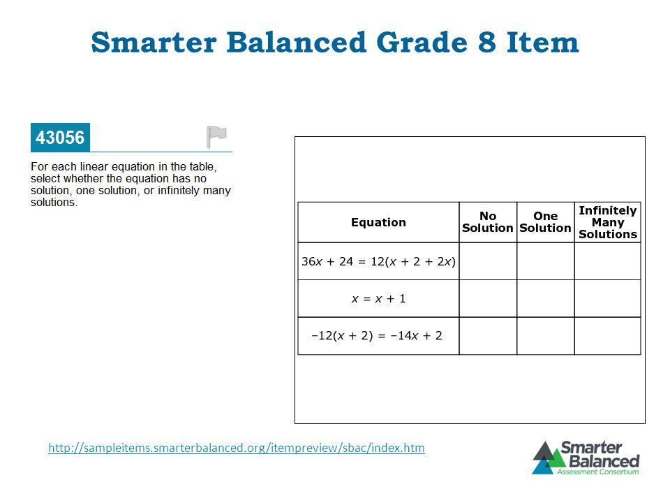 Smarter Balanced Grade 8 Item
