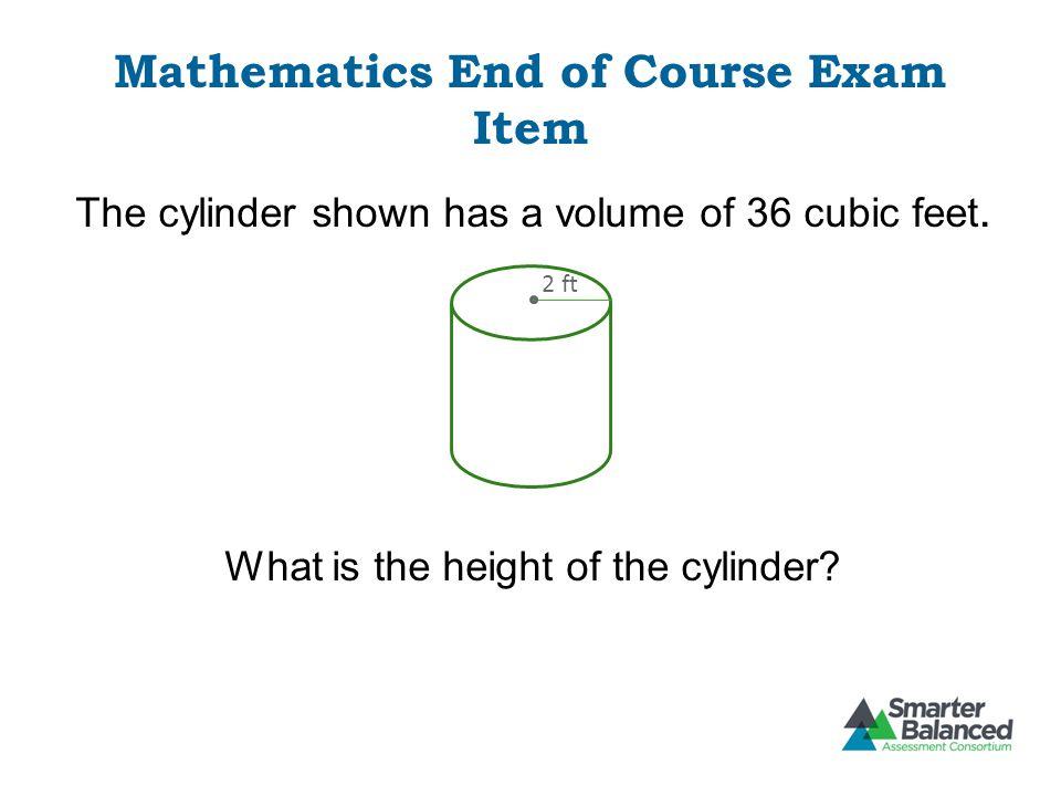 Mathematics End of Course Exam Item