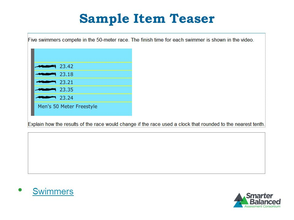 Sample Item Teaser Swimmers