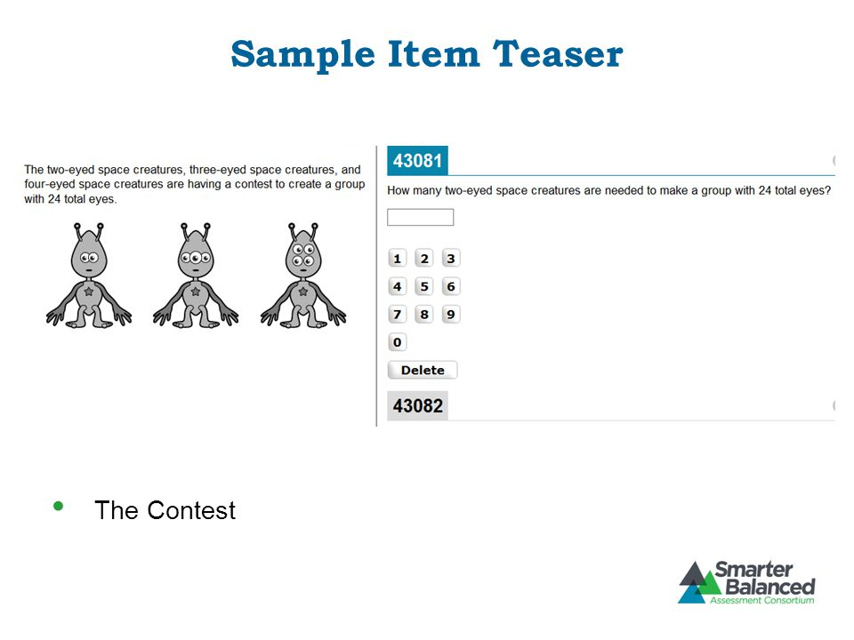 Sample Item Teaser The Contest