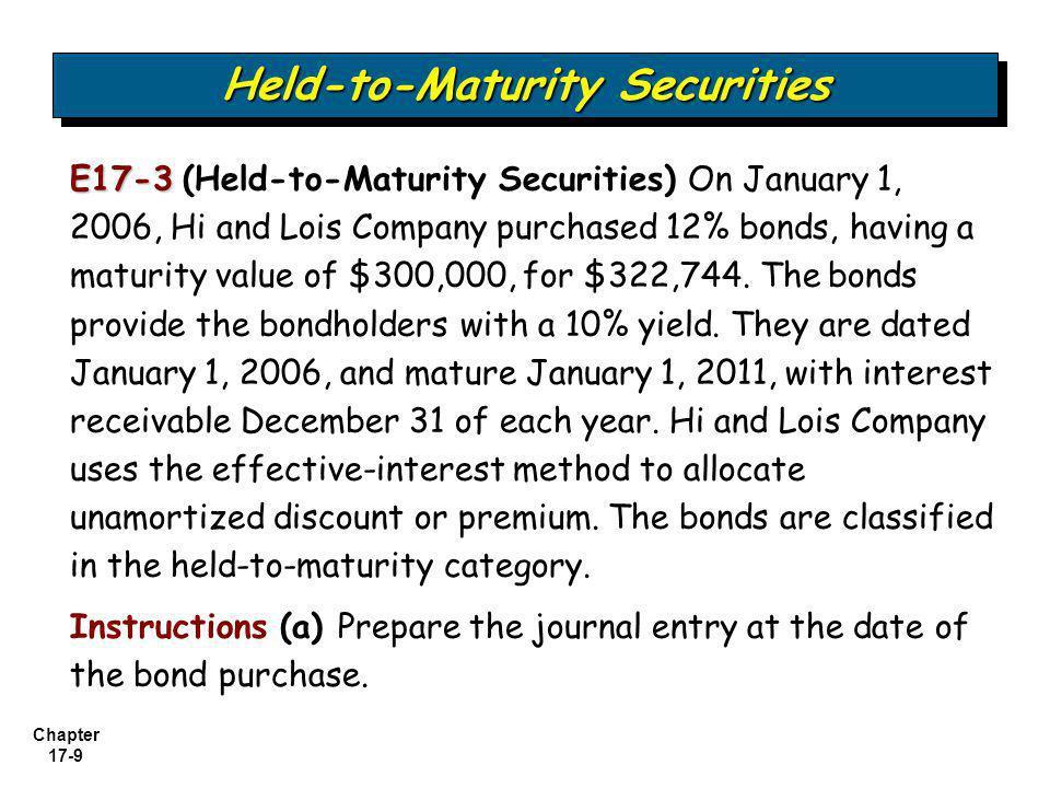 Held-to-Maturity Securities
