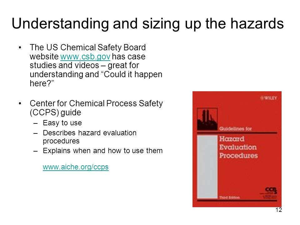 Understanding and sizing up the hazards