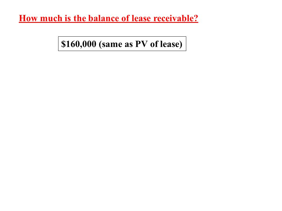 How much is the balance of lease receivable