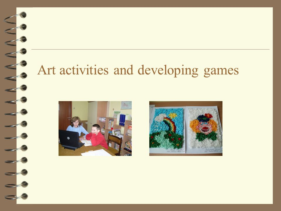 Art activities and developing games