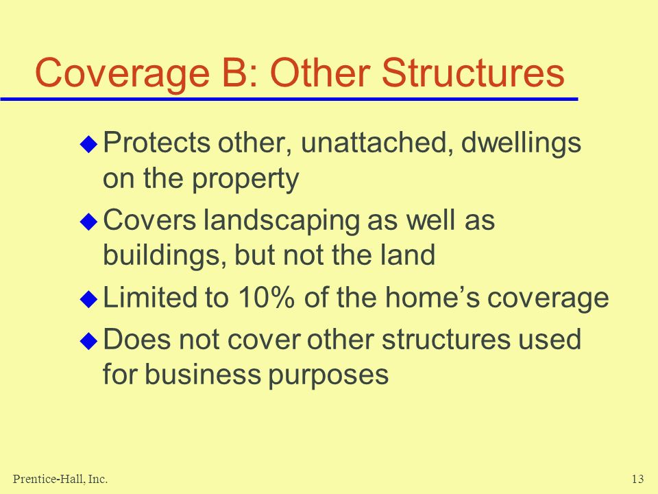 Coverage B: Other Structures