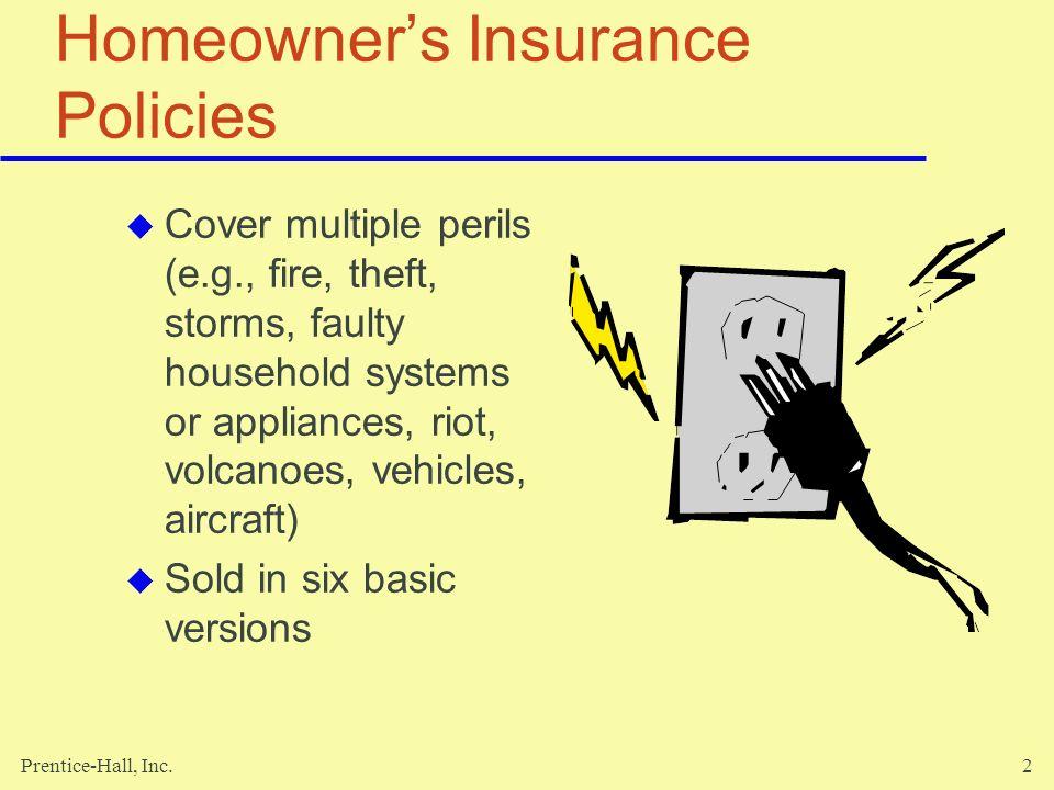 Homeowner's Insurance Policies