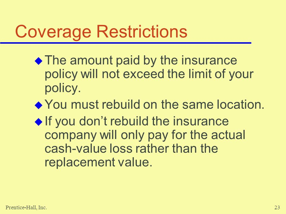 Coverage Restrictions