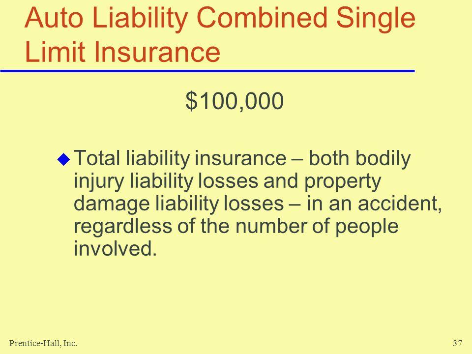 Auto Liability Combined Single Limit Insurance