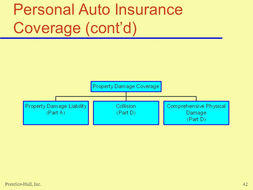Personal Auto Insurance Coverage (cont'd)