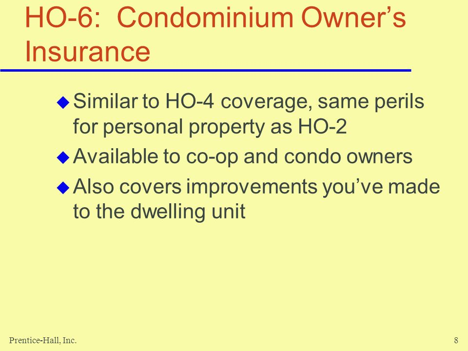 HO-6: Condominium Owner's Insurance