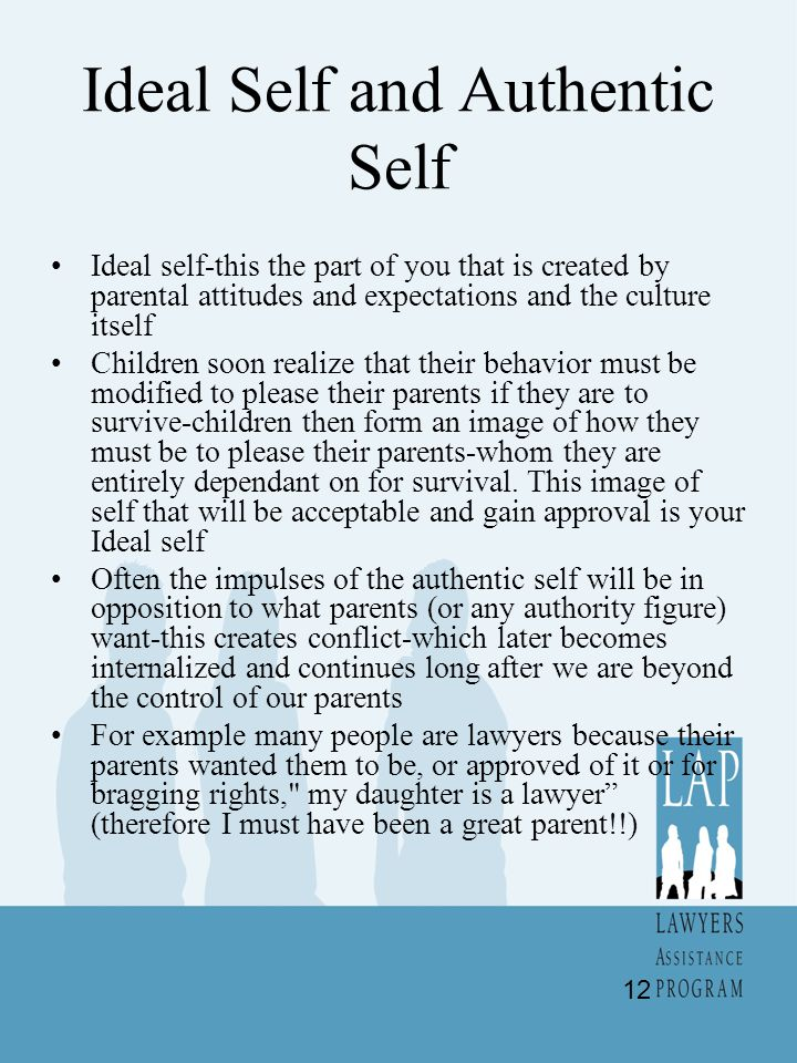 Ideal Self and Authentic Self