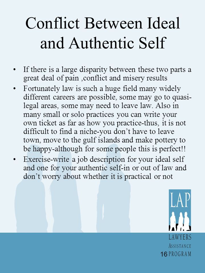Conflict Between Ideal and Authentic Self