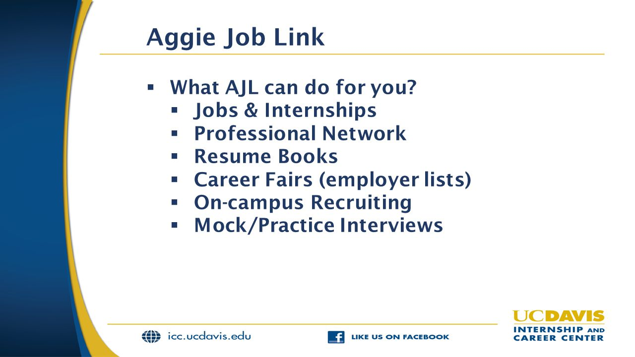 Aggie Job Link What AJL can do for you Jobs & Internships