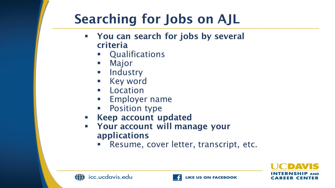 Searching for Jobs on AJL