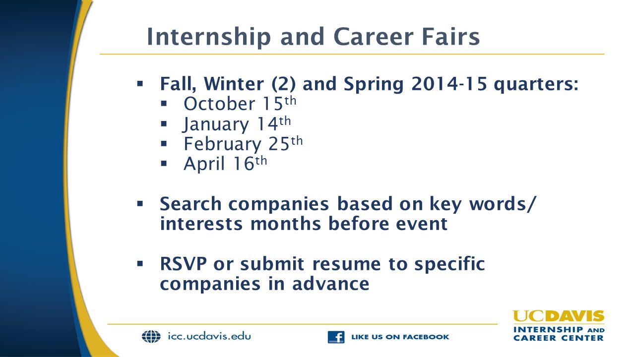 Internship and Career Fairs